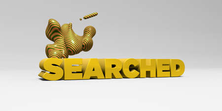 SEARCHED - 3D rendered colorful headline illustration.  Can be used for an online banner ad or a print postcard.
