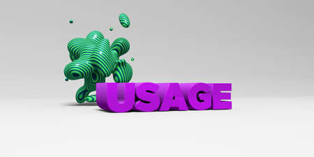 usage: USAGE - 3D rendered colorful headline illustration.  Can be used for an online banner ad or a print postcard.