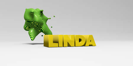 linda: LINDA - 3D rendered colorful headline illustration.  Can be used for an online banner ad or a print postcard.