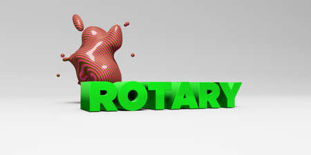 ROTARY - 3D rendered colorful headline illustration.  Can be used for an online banner ad or a print postcard.