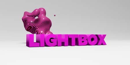 LIGHTBOX - 3D rendered colorful headline illustration.  Can be used for an online banner ad or a print postcard.