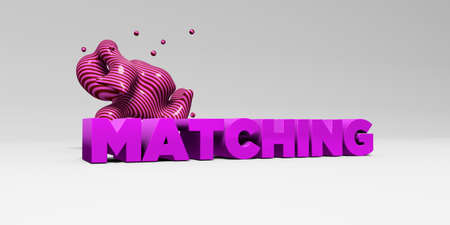 matching: MATCHING - 3D rendered colorful headline illustration.  Can be used for an online banner ad or a print postcard.