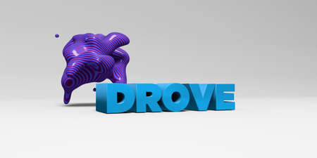 drove: DROVE - 3D rendered colorful headline illustration.  Can be used for an online banner ad or a print postcard.