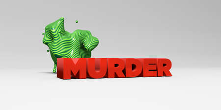murder: MURDER - 3D rendered colorful headline illustration.  Can be used for an online banner ad or a print postcard.