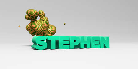 STEPHEN - 3D rendered colorful headline illustration.  Can be used for an online banner ad or a print postcard.