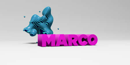 marco: MARCO - 3D rendered colorful headline illustration.  Can be used for an online banner ad or a print postcard.