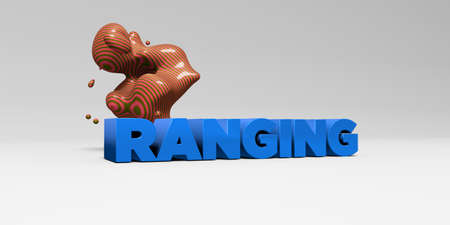 ranging: RANGING - 3D rendered colorful headline illustration.  Can be used for an online banner ad or a print postcard.