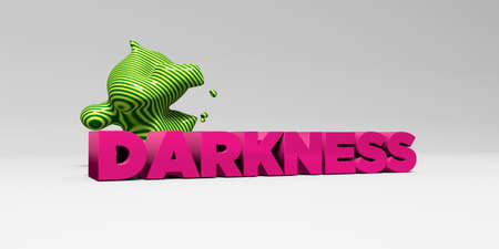 darkness: DARKNESS - 3D rendered colorful headline illustration.  Can be used for an online banner ad or a print postcard.
