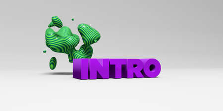 INTRO - 3D rendered colorful headline illustration.  Can be used for an online banner ad or a print postcard.