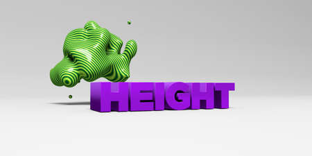 height: HEIGHT - 3D rendered colorful headline illustration.  Can be used for an online banner ad or a print postcard.