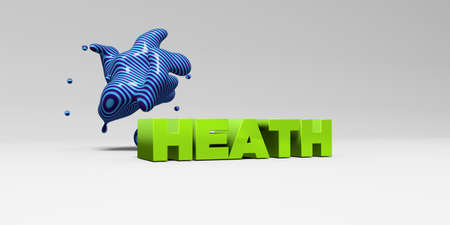 heath: HEATH - 3D rendered colorful headline illustration.  Can be used for an online banner ad or a print postcard. Stock Photo