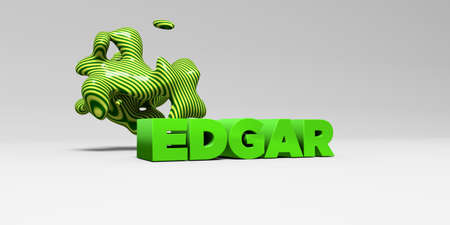 EDGAR - 3D rendered colorful headline illustration.  Can be used for an online banner ad or a print postcard.
