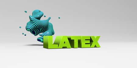 latex: LATEX - 3D rendered colorful headline illustration.  Can be used for an online banner ad or a print postcard.