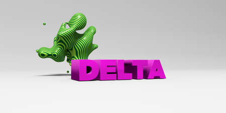 delta: DELTA - 3D rendered colorful headline illustration.  Can be used for an online banner ad or a print postcard.