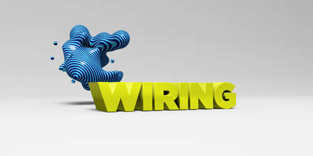 wiring: WIRING - 3D rendered colorful headline illustration.  Can be used for an online banner ad or a print postcard.