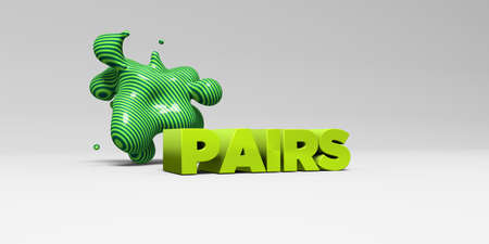 pairs: PAIRS - 3D rendered colorful headline illustration.  Can be used for an online banner ad or a print postcard. Stock Photo