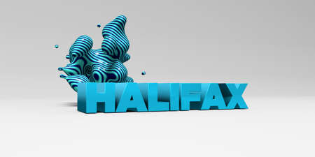 halifax: HALIFAX - 3D rendered colorful headline illustration.  Can be used for an online banner ad or a print postcard.