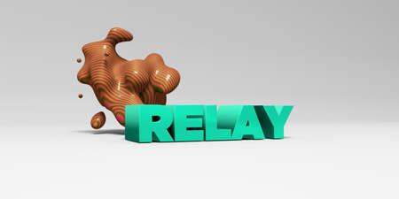 relay: RELAY - 3D rendered colorful headline illustration.  Can be used for an online banner ad or a print postcard.