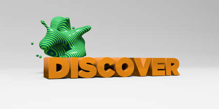 DISCOVER - 3D rendered colorful headline illustration.  Can be used for an online banner ad or a print postcard.