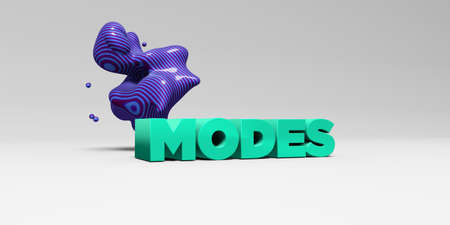modes: MODES - 3D rendered colorful headline illustration.  Can be used for an online banner ad or a print postcard. Stock Photo
