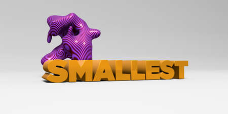 smallest: SMALLEST - 3D rendered colorful headline illustration.  Can be used for an online banner ad or a print postcard.