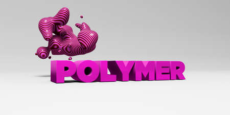 polymer: POLYMER - 3D rendered colorful headline illustration.  Can be used for an online banner ad or a print postcard.