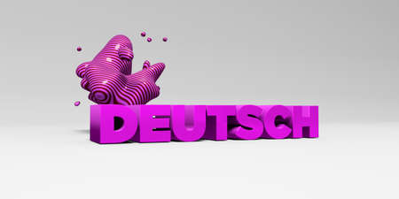 deutsch: DEUTSCH - 3D rendered colorful headline illustration.  Can be used for an online banner ad or a print postcard.