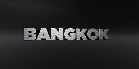 バンコク - 金属仕上げ黒スタジオ - 3D テキストを描画ロイヤリティ フリーのストック フォトを打ち出した。この画像は、オンラインの web サイトの