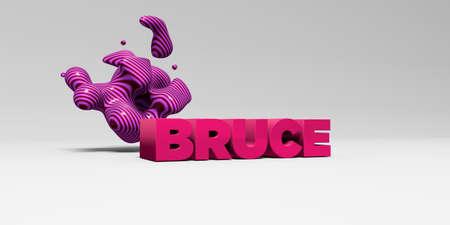 ブルース - デザイン要素と白の studiobackground の色タイプ - 3 D レンダリングされたロイヤリティ フリー ストック画像。この画像は、オンラインの web
