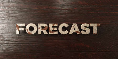 Forecast - grungy wooden headline on Maple  - 3D rendered royalty free stock image. This image can be used for an online website banner ad or a print postcard. Zdjęcie Seryjne