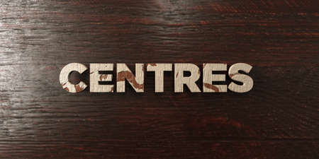 computer centres: Centres - grungy wooden headline on Maple  - 3D rendered royalty free stock image. This image can be used for an online website banner ad or a print postcard.
