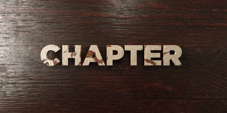 free image: Chapter - grungy wooden headline on Maple  - 3D rendered royalty free stock image. This image can be used for an online website banner ad or a print postcard.
