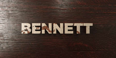 bennett: Bennett - grungy wooden headline on Maple  - 3D rendered royalty free stock image. This image can be used for an online website banner ad or a print postcard.
