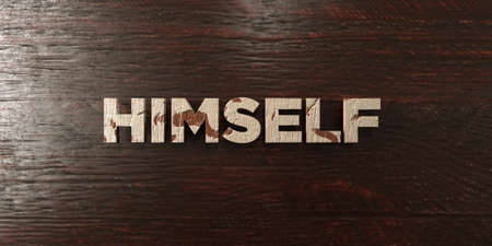 Himself - grungy wooden headline on Maple  - 3D rendered royalty free stock image. This image can be used for an online website banner ad or a print postcard.
