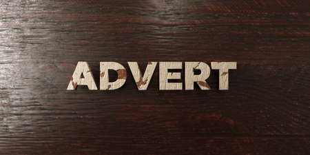 Advert - grungy wooden headline on Maple  - 3D rendered royalty free stock image. This image can be used for an online website banner ad or a print postcard.