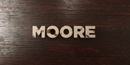 ムーア - メープルの汚れた木製見出し - 3 D レンダリングされたロイヤリティ フリー ストック イメージ。この画像は、オンラインの web サイトのバ 写真素材