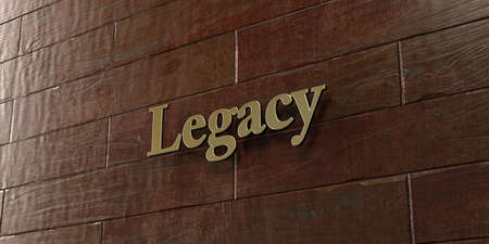 legacy: Legacy - Bronze plaque mounted on maple wood wall  - 3D rendered royalty free stock picture. This image can be used for an online website banner ad or a print postcard.