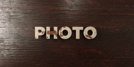 royalty free photo: Photo - grungy wooden headline on Maple  - 3D rendered royalty free stock image. This image can be used for an online website banner ad or a print postcard.