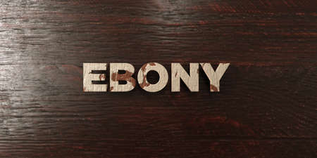 Ebony - grungy wooden headline on Maple  - 3D rendered royalty free stock image. This image can be used for an online website banner ad or a print postcard. Zdjęcie Seryjne