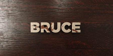 ブルース - メープルの汚れた木製見出し - 3 D レンダリングされたロイヤリティ フリー ストック イメージ。この画像は、オンラインの web サイトの