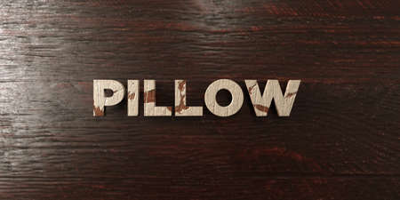 cushions: Pillow - grungy wooden headline on Maple  - 3D rendered royalty free stock image. This image can be used for an online website banner ad or a print postcard. Stock Photo