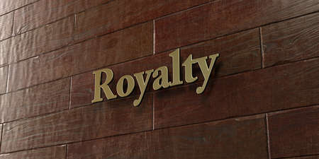 royalty: Royalty - Bronze plaque mounted on maple wood wall  - 3D rendered royalty free stock picture. This image can be used for an online website banner ad or a print postcard.