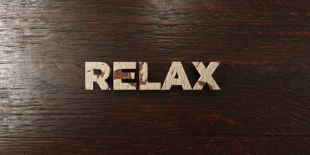 Relax - grungy wooden headline on Maple  - 3D rendered royalty free stock image. This image can be used for an online website banner ad or a print postcard.