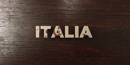 italia: Italia - grungy wooden headline on Maple  - 3D rendered royalty free stock image. This image can be used for an online website banner ad or a print postcard. Stock Photo