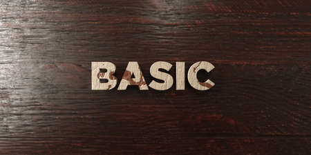 basic letters: Basic - grungy wooden headline on Maple  - 3D rendered royalty free stock image. This image can be used for an online website banner ad or a print postcard.