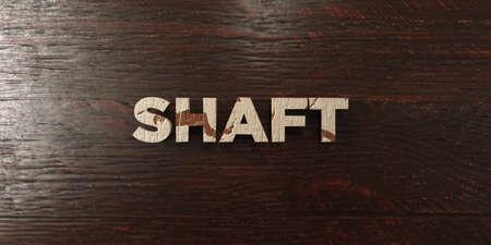シャフト - メープルの汚れた木製見出し - 3 D レンダリングされたロイヤリティ無料ストック画像。この画像は、オンラインの web サイトのバナー広
