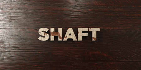shaft: Shaft - grungy wooden headline on Maple  - 3D rendered royalty free stock image. This image can be used for an online website banner ad or a print postcard. Stock Photo