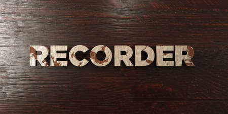 Recorder - grungy wooden headline on Maple  - 3D rendered royalty free stock image. This image can be used for an online website banner ad or a print postcard. Reklamní fotografie