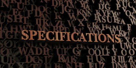 Specifications - Wooden 3D rendered lettersmessage.  Can be used for an online banner ad or a print postcard. Reklamní fotografie