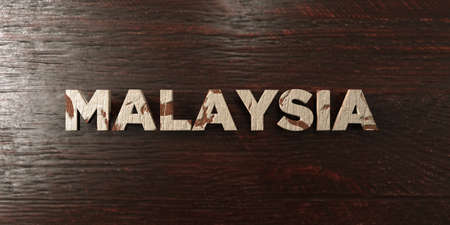 Malaysia - grungy wooden headline on Maple  - 3D rendered royalty free stock image. This image can be used for an online website banner ad or a print postcard.